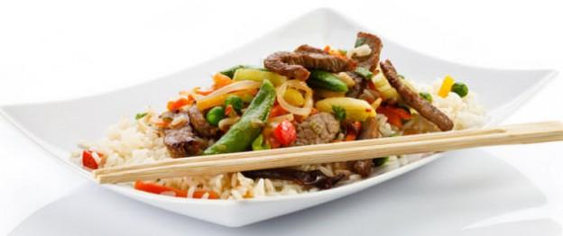Rind nach Szechuan Art, asiatisches Essen
